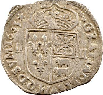 Henri IV, quart d'écu de Béarn, 1605 Morlaàs