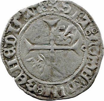 Charles VII, petit blanc aux lis accotés, Toulouse