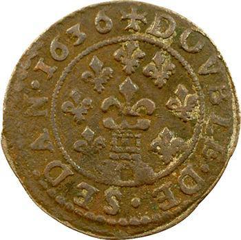 Sedan (principauté de), Frédéric-Maurice de La Tour, double tournois 13e type, 1636 Sedan