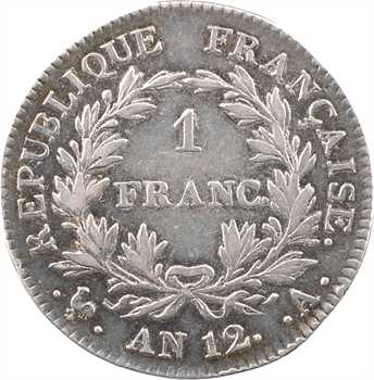 Premier Empire, 1 franc calendrier révolutionnaire, An 12 Paris