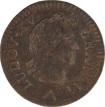 Louis XV, liard à la vieille tête, 1773 Lille