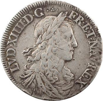 Louis XIV, demi-écu au buste juvénile, 1re effigie, 1660 Bordeaux