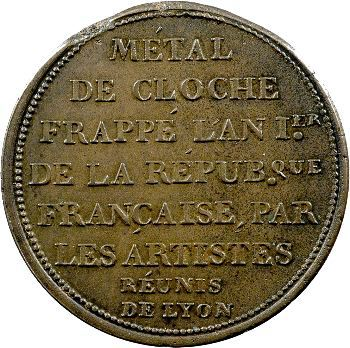 Constitution, essai à l'effigie de Mirabeau, c.1792 Lyon