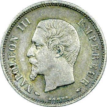Second Empire, 20 centimes tête nue, 1854 Paris