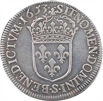 Louis XIV, demi-écu à la mèche longue, 1653 Troyes