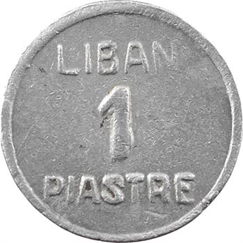 Liban, 1 piastre non datée, en aluminium, 3e émission, s.d. (fin 1941-1945) Alep