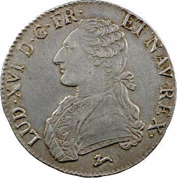Louis XVI, écu aux rameaux d'olivier, 1785 Orléans