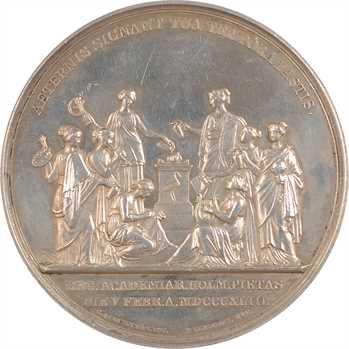 Suède, Charles XIV, jubilé de l'Académie Royale des Arts, par P. Lundgren, 1843