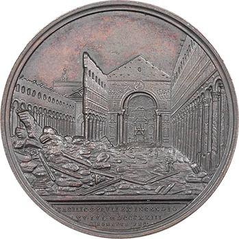 Vatican, Pie IX, reconstruction de la basilique Saint Paul, par Cerbara et Girometti, 1858 Rome