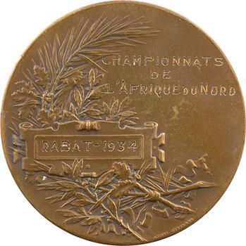 Maroc (Rabat), concours d'escrime d'Afrique du Nord, par Pillet, 1934