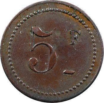 Algérie, Oran, 5 francs, Fuentes et Macia, El Fahoul