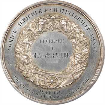 Second Empire, Comice agricole de Châtellerault, en argent, 1866 Paris