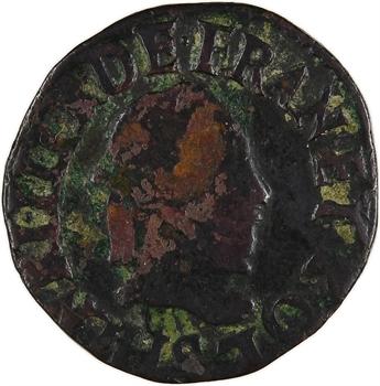 Henri III, double tournois, 1588 Troyes