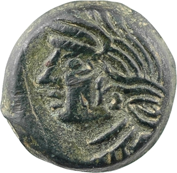 Bituriges Cubes, bronze à l'aigle CALIAGIID, classe III, c.60-40 av. J.-C
