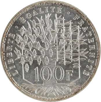 Ve République, essai de 100 francs Panthéon, 1982 Pessac