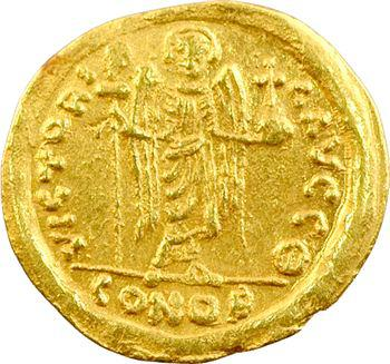 Maurice Tibère, solidus, Antioche, 582-602