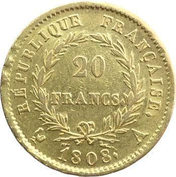 Premier Empire, 20 francs République, 1808 Paris
