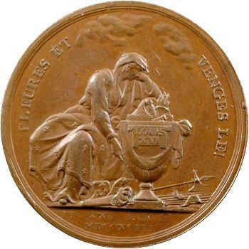 Louis XVI, la mort du Roi, par Loos, en bronze, 1793 Berlin