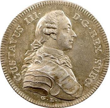 Suède, Gustave III, par G. Liungberger, 1777 Stockholm