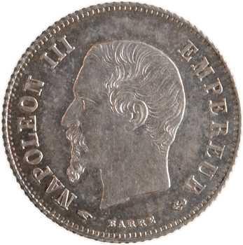 Second Empire, 20 centimes tête nue, 1858 Paris