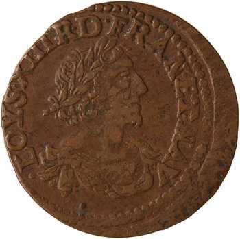 Louis XIII, double tournois, 1640 vallée du Rhône
