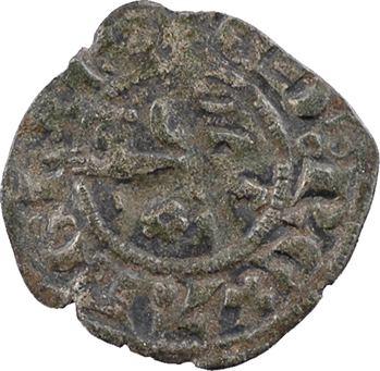 Aquitaine (duché d'), Édouard III, obole au léopard, 4e type, rosette