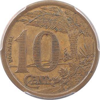 Algérie, Chambre de Commerce d'Oran, 10 centimes, 1921 PCGS SP62BN