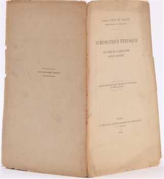 Casati de Casatis (Ch.), Numismatique étrusque quel mode de classification doit-on adopter ?, Paris 1900