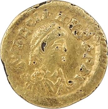 Italie ? trémissis au nom de Marcien en or pâle fourré, c.480-500