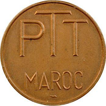 Maroc, Mohammed V, jeton des PTT en cuivre, s.d. Paris
