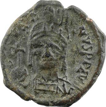 Justin II, demi-follis, Thessalonique, An 4 = 568-569
