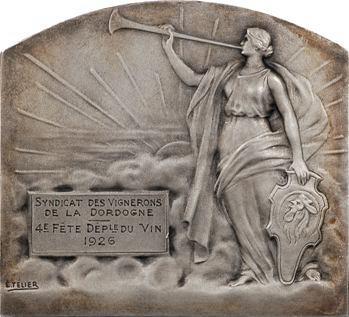 Rivet et Télier : Syndicat des Vignerons de la Dordogne, fête du vin, 1926 Paris