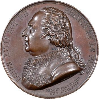 Louis XVIII et le Duc d'Angoulême, Société pour l'amélioration des Prisons, 1819 Paris