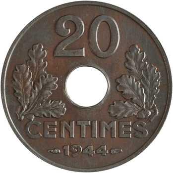 État Français, 20 centimes fer, 1944 Paris