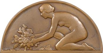 Guiraud (G.) : Jeune femme aux roses, s.d. (1933) Paris