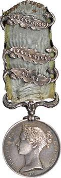 Royaume Uni, Victoria, médaille de la Guerre de Crimée, par Wyon, 1854