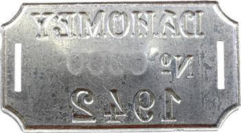 Dahomey, plaque de taxe n° 0000, 1942