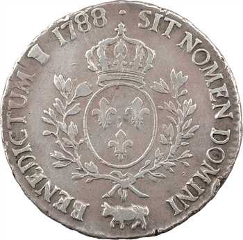 Louis XVI, écu aux branches d'olivier du Béarn, 1788 Pau
