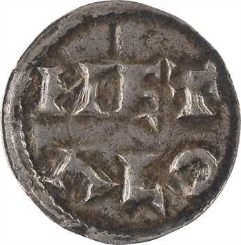 Poitou (comté de), au type de Charles le Simple, denier immobilisé, Melle, s.d. (c.950-980)