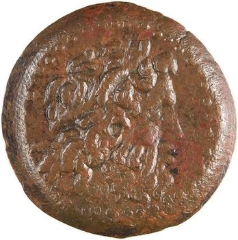 Égypte, Ptolémée II, dichalque de bronze, Alexandrie c.260 av. J.-C
