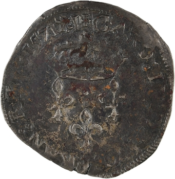 Charles IX, double sol parisis, 1571 Limoges
