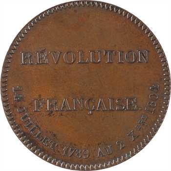 Premier Empire, souvenir de la Révolution Française, par Barre, 1804 (post.) Paris