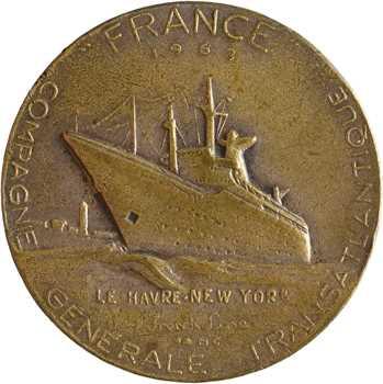 Compagnie Générale Transatlantique, le paquebot France, petit module dans sa boîte, par Coëffin, 1962 Paris