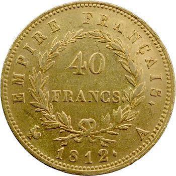 Premier Empire, 40 Francs Empire, 1812 Paris
