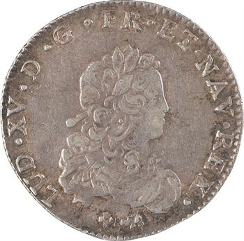 Louis XV, tiers d'écu de France, 1721 Bourges