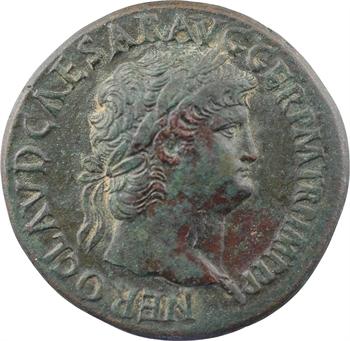 Néron, sesterce, Rome, 64-65