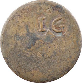 Saintes (île des) ou Guadeloupe, sou marqué IG/LS, s.d. (1809-1815)