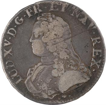 Louis XV, écu aux branches d'olivier, 1740 Strasbourg