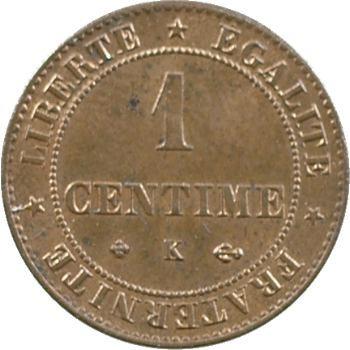 IIIe République, 1 centime Cérès, 1878 Bordeaux