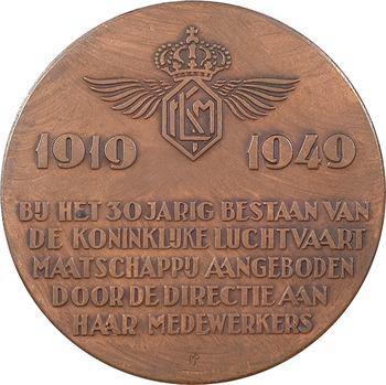 Pays-Bas, trentenaire de la K.L.M. (Royal Dutch Airlines), par M. Pauw, 1919-1949